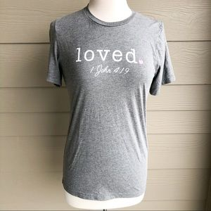 Bella+ canvas Grey short tee size small